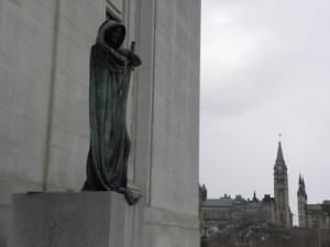 Statue and Peace Tower